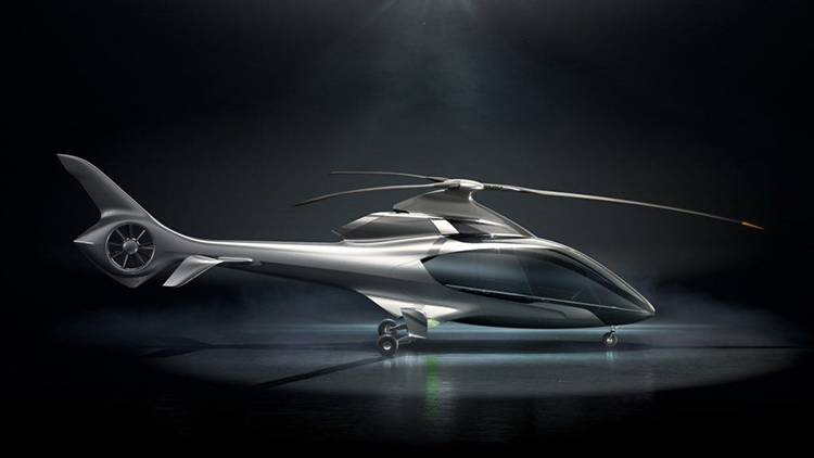 Luxury 5-seat Helicopter Features High Performance Composite Fuselage