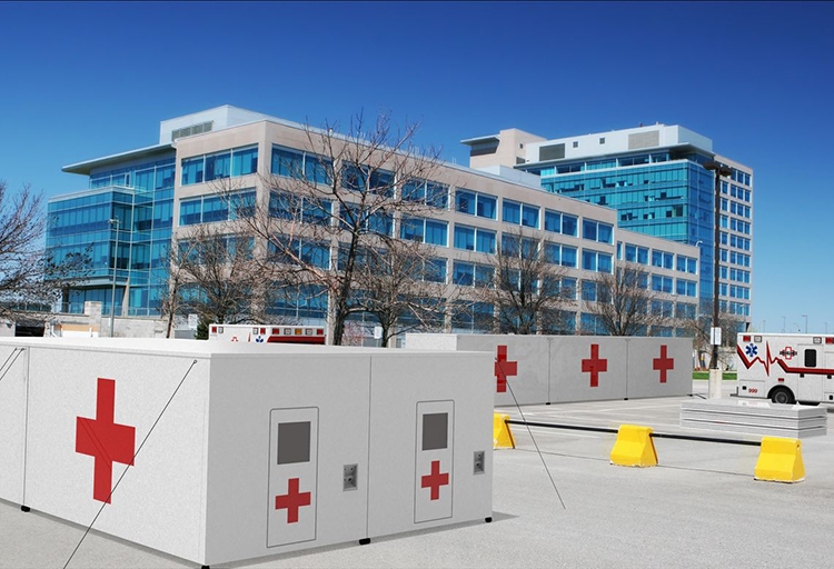 Emergency Medical Shelters Built of Composite Materials are Strong and Quickly Assembled