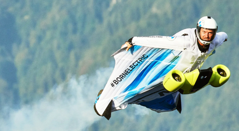Carbon Fiber Impellers Power BMW i's Electrified Wingsuit