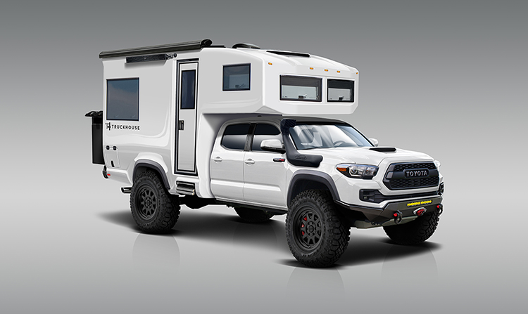 Toyota Tacoma Redesigned into All-Terrain Expedition Vehicle with Carbon Fiber Monocoque