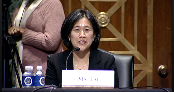 """USTR Nominee Katherine Tai Says She Needs to Make Positive Commerce """"Works for Our Staff"""""""